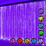 Curtain String Light 300 LED 16 Color Changing Curtain Lights Wedding Party Home Garden Bedroom Outdoor Indoor Wall Decorations Multi-Color