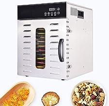 Déshydrateur de nourriture 12 couches intelligente déshydrateur alimentaire, 30-90 ° C réglable, en acier inoxydable, séch...