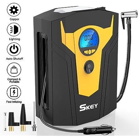 Skey Luftkompressor Dc 12v 150psi Auto Luftpumpe Mit Led Lichter Und Lcd Bildschirm Mini Kompressor Für Autos Motorräder Fahrradreifen Und Schlauchboote Auto