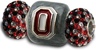 Ohio State Charms | Ohio State Gray Block O with Crystal Charms | OSU Gifts | Officially Licensed Ohio State Jewelry | Ohi...