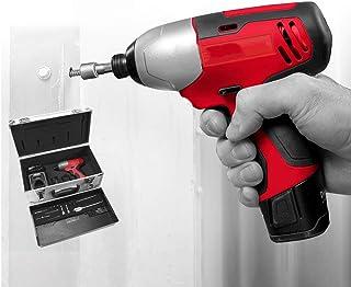 DUYER batteriborr, 100 Nm högt vridmoment, allt mjukt gummi fallskydd, LED extra belysning