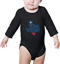 PoPBelle Texas Stronger Baby Onesies Clothing Long Sleeve Jumpsuits Cotton Rompers