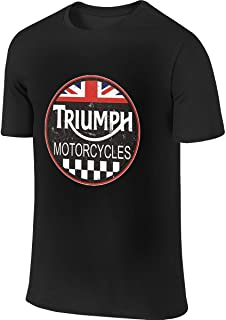 Triumph Motorcycle Classic Old Vintage Tin Sign Leisure Tennis Black T-Shirt