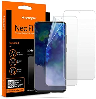 2pcs Spigen Screen Protector For Samsung Galaxy S20 Plus, Flexible Clear against scratches and fingerprints
