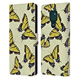 Head Case Designs Machaon Papillon - Motifs Coque en Cuir à Portefeuille Compatible avec Motorola...