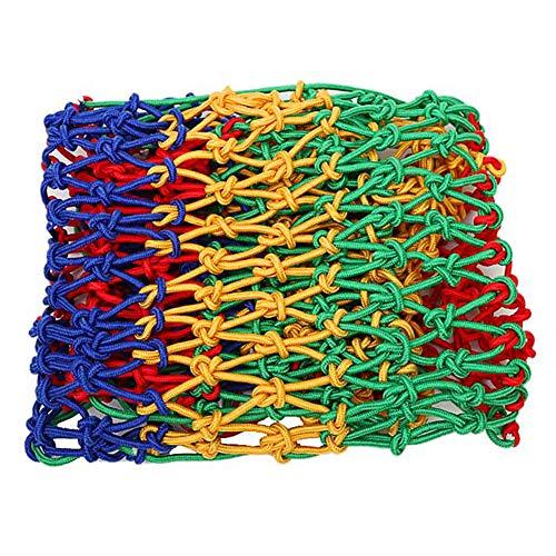 MuMa Cuerda De Nylon De Color Red De Seguridad, Decoración Neto, Anticaída Aislamiento Protección Neto para El Jardín Escalera Balcon Al Aire Libre Acepta Tejido Neto(Size:5 * 8M(16 * 26ft))