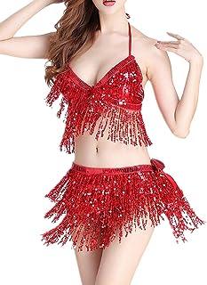 6ad8b846e Amazon.es: cinturon lentejuelas - Rojo