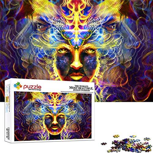 FFGHH Puzzle De Madera Puzzles para Adultos 1000 Piezas Puzzle 7 Años Decoración del Hogar para Niños Adultos Amigo Personajes De Fantasía 52 * 38Cm