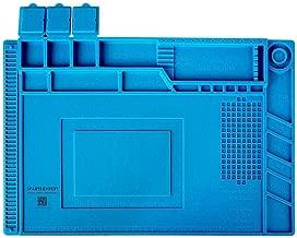 Soldering Mat Silicone Repair Mat Heat Insulation Work Station Magnetic Desk Pad for BGA, Heat Gun, Workbench, Cell Phone, Laptop (17.8 x 11.8 inch)