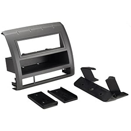 Scosche TA2052B Compatible with 2005-11 Toyota Tacoma DIN w/Molded Pocket Dash Kit Black, Silver