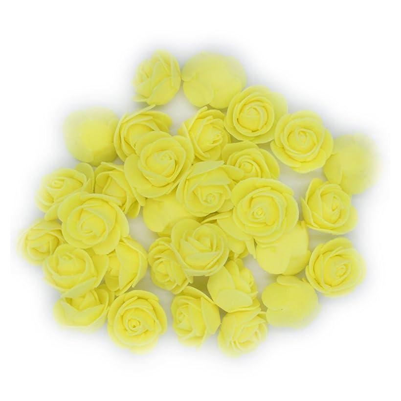 東ティモール債務欠如Poprain バラ の 造花 花部分のみ 泡 直径3 フラワーシャワー 造花 花びら たっぷり 結婚式 ウェディング パーティー イベント 11色 50/100/200 組み合わせる可 50 イエロー 家庭用品