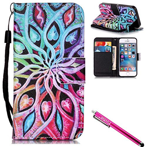 """iPhone 6S Case, iPhone 6 Wallet Case, Firefish Kickstand Flip [Card Slots] Double Layer Bumper Shell with Magnetic Closure Strap Protective Case for Apple iPhone 6/6S 4.7""""-Colorful"""