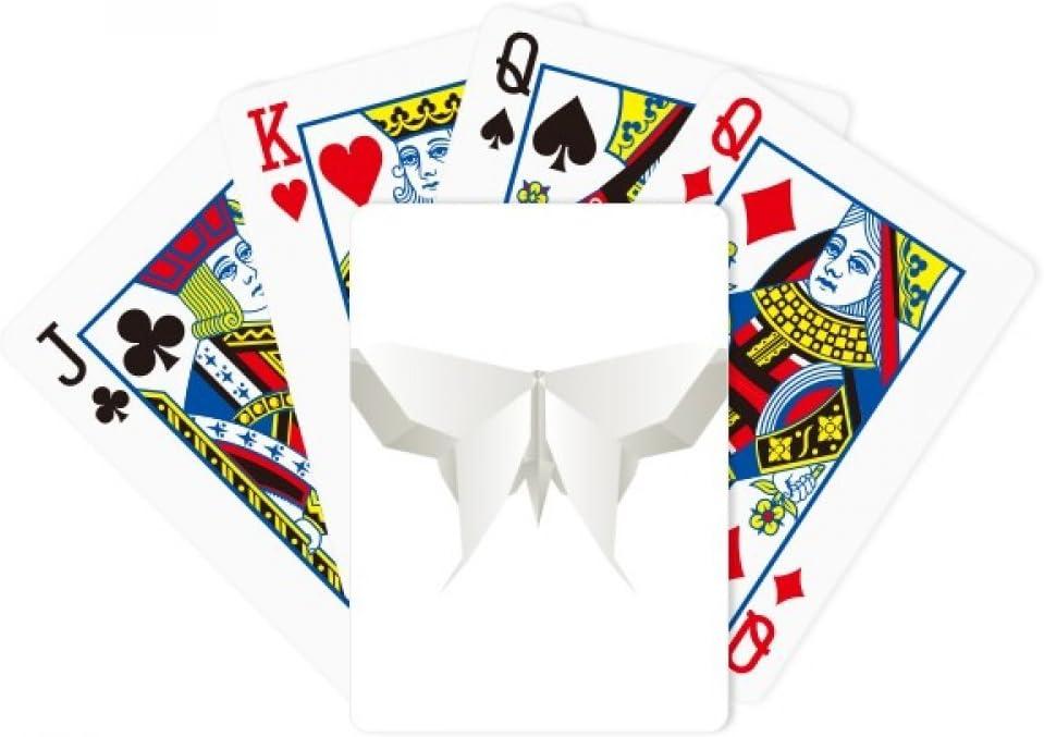 White Origa Butterfly Pattern Poker Juego de mesa de diversión de tarjeta mágica