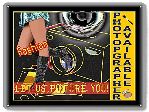 Kamera Fotograf Schild Fashion Modelle/Vintage Antik Style Studio Büro Wand Decor 424