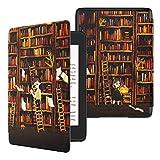 TiMOVO Hülle für Amazon Kindle Paperwhite E-Reader, Ultraschlank Schutzhülle aus Kunstleder mit Auto Schlaf/Aufwach Funktion für Kindle Paperwhite(10th Gen, 2018 Releases - Bücherregal