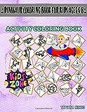 Dinosaur Coloring Book For Kids Ages 4 8: 55 Image Amargasaurus, Styracosaurus, Buitreraptor, Meteorite, Brachiosaurus, Kentrosaurus, Dracorex, ... Image Quizzes Words Activity Coloring Book