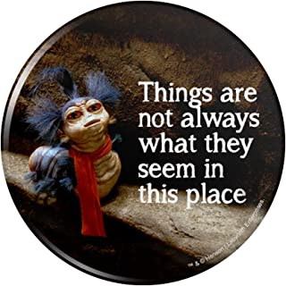 Labyrinth The Worm Quote Thing Are Not Always What They Seem In This Place Kitchen Refrigerator Locker Button Magnet