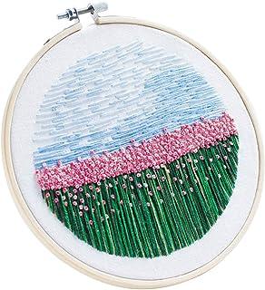 ALLESOK Kreuzstich Stickerei Set Stickpackung Einschließlich Farbe Threads Baumwolle Tuch Nadel Zeichnung, Nelke
