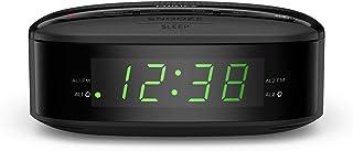 Philips Audio Radiowecker UKW Radio (Doppelter Alarm, Sleep Timer, Kompaktes Design, UKW Digitalradio, Batteriesicherung)   2020/2021 Modell TAR3205/12