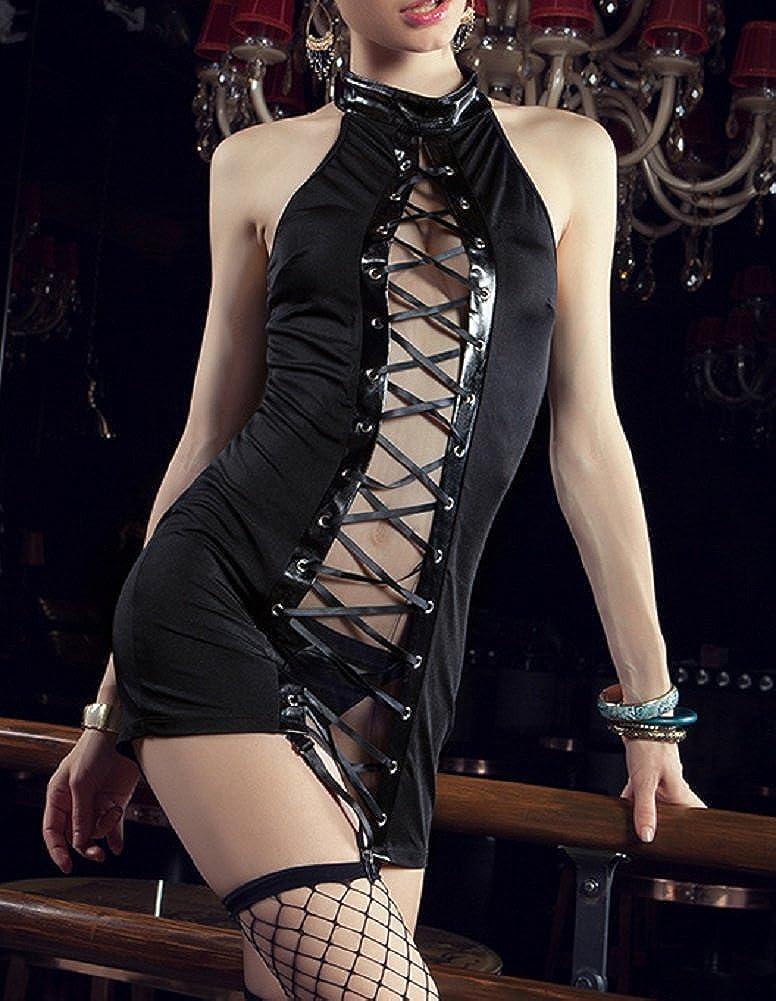 paplan Mujer Charol Queen Vestido del Club Nocturno Actuaciones Uniformes