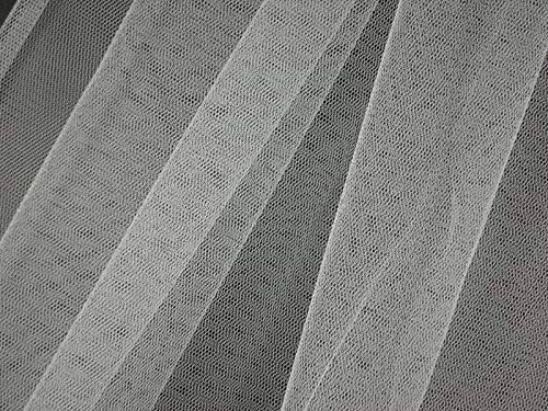 Soft tulle, nylon, blanc, env. 150 cm