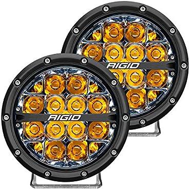 Rigid Industries 36201 6 LED Off-Road Fog Light - Spot Beam, Amber Backlight