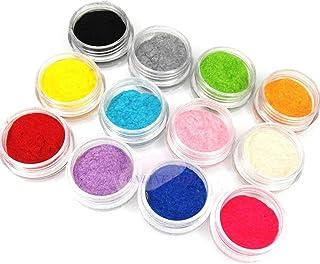 12 Color Velvet Flocking Powder Set - الوان مخمليه للاظافر