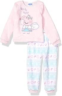 Peppa Pig Girls' Toddler Plush Fleece Pajama Set