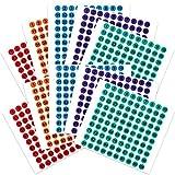 50 Hojas Pegatinas Adhesivas de Inventario/Almacenamiento Pegatinas de Números de Vinilos de 1 a 100 Consecutivos Etiquetas Redondas Pequeñas para Interior Exterior, Caja Herramientas (0,4 Pulgadas)