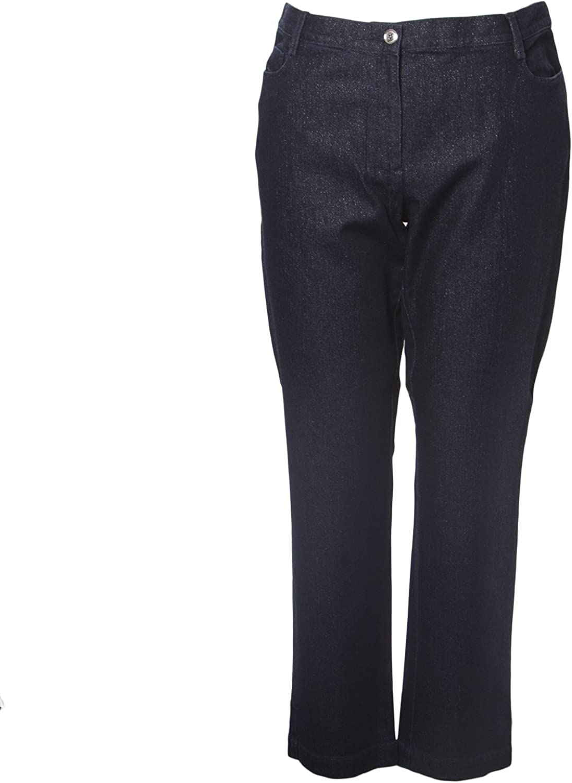 Marina Rinaldi Women's Igor Slim Shimmer Jeans Dark Indigo
