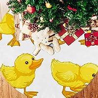 ツリースカート クリスマスツリースカート ひよこ イエロー きれい ホリデーデコレーション メリイクリスマス飾り 下敷物 可愛い 雰囲気 クリスマスパーティー 直径77cm