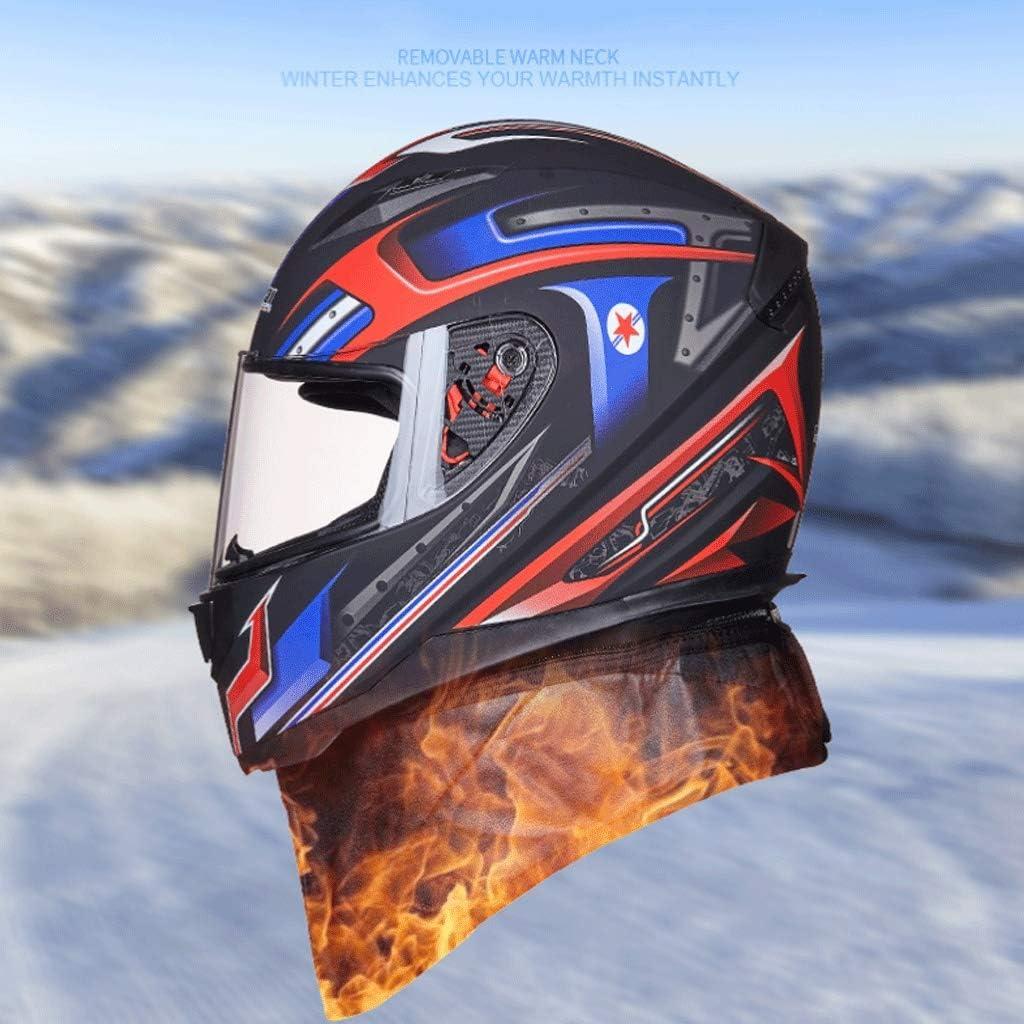 53-62 cm KHFFH Casco de Moto- Unisex Completo Cara Casco de la Motocicleta de Invierno Anti-vaho Caliente Casco de la Motocicleta de Invierno Campo a trav/és del Casco Color : A1, Size : M tama/ño