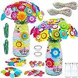TIANLE Set de Botones de Flores DIY Toy Fieltro jarrón de Arte Set de artesanía Creativa Set de Herramientas de Juego Hechas a Mano Regalo de cumpleaños para niños 2 Juegos para niñas y niños