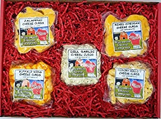 WISCONSIN CHEESE COMPANY'S - Wisconsin Big Classic Famous Cheese Curd Sampler , A Perfect Holiday Food Gift, Cheese Gift, Gift for Family and Friends.