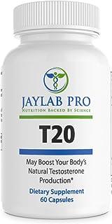 Jaylab Pro T20 Test Booster Supplement – Natural Herbal Pills – Boost Muscle Development – L-Norvaline, Tongkat Ali, Avena Sativa, Cordyceps Sinensis, Rhodiola Rosea, Tribuls Terrestris