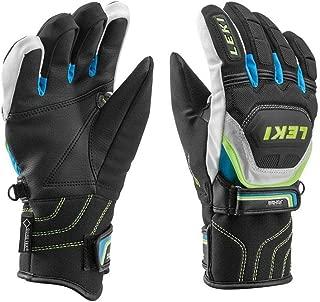 LEKI World Cup Race Flex S Jr Glove Black/Cyan