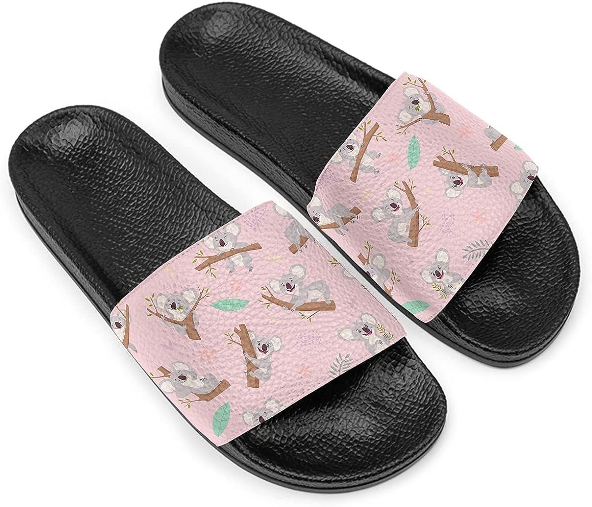Koalas Slippers For Women Men 25% OFF Flat Ope soft trend rank soled black non-slip