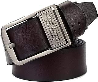 Men's Belt Casual pin Buckle Belt Casual Belt Suit Business Belt (Color : Brown, Size : 120cm)