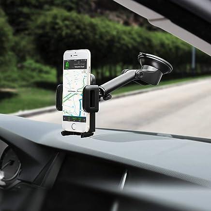 Mpow Support Voiture pour Smartphone Support Tableau de Bord Téléphone Rotation 360° Bras Prolongé Angle Télescopique Support Voiture iPhone Huawei etc.