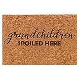 Daylor Coir Door Mat Entry Doormat Grandparent Grandmother Grandfather Grandma Grandpa Grandchildren Spoiled Here