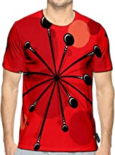 3D Printed T Shirts Retro Atomic 1950S Mid Century Vintage Casual Mens Hipster Top Tees
