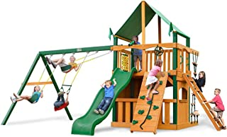 Chateau Clubhouse Swing Set with Deluxe Green Vinyl Canopy