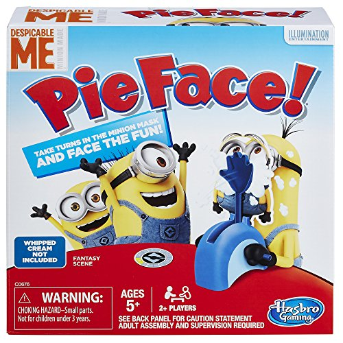 Hasbro Gaming Pie Face Game Despicable Me Minion Made Edition - Test Your Luck as a Minion - Fun for the Whole Family - Slowly Load the Throwing Arm with a Pie or Sponge - Ages 5 and Up