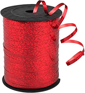 500 Yards Shiny red Balloon Ribbons for Party Florist Flowers Wrapping Gift Box Cards Balloons Decoration