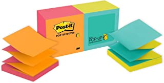Post-it Pop-up Notes, Green, Blue, Yellow, Pink, Orange, Designed for Pop-up Note Dispensers, Call out Important Information, 3 in. x 3 in, 12 Pads/Pack, (R330-N-ALT)