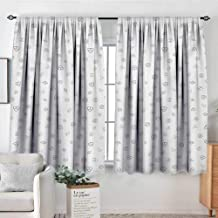 Money Patterned Drape for Glass Door Cryptocurrency Themed Pattern Banking Business Blockchain Exchange and Finance Blackout Draperies for Bedroom 55