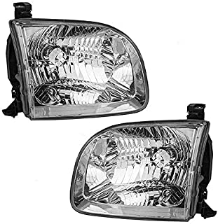 Headlights Headlamps Driver and Passenger Replacement for Toyota Pickup Truck SUV 811500C020 811100C020