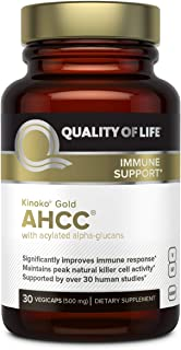 Quality Of Life Kinoko AHCC Gold Immune Health, 500 Mg, 30 Count