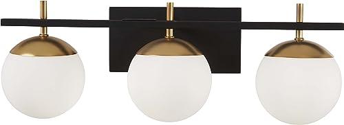 wholesale George Kovacs P1353-618 high quality Alluria 3 Light Bath, 225 Watt Total, Weathered sale Black w/Autumn Gold outlet sale