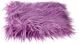 TOYANDONA Baby Newborn Photo Props Wraps DIY Blanket Infant Outfits Soft Faux Fur Photography Backdrops Mat for Baby Boys and Girls(Purple)